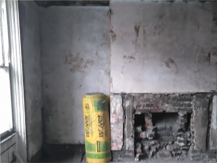 Inside empty home that needs work