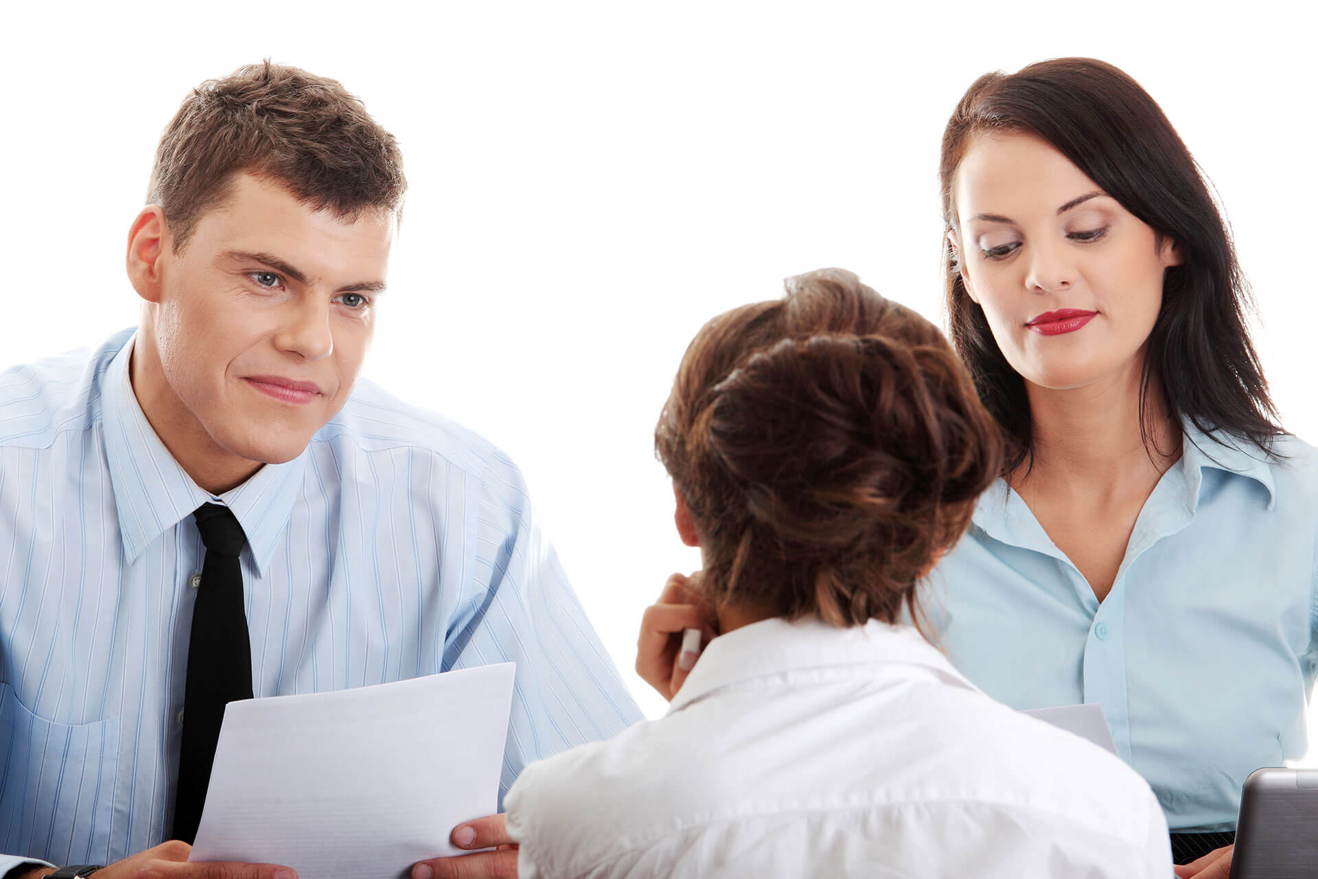 Picture of two people getting advice