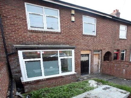 Picture of outside of empty house